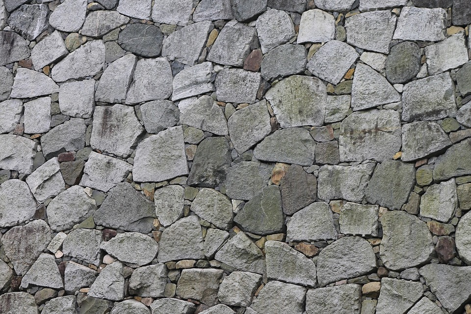 Stone Wall, Stone, Wall, Castle, Japan, Texture