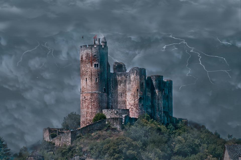 Stormy, Castle, France, Kingdom, Europe, Country