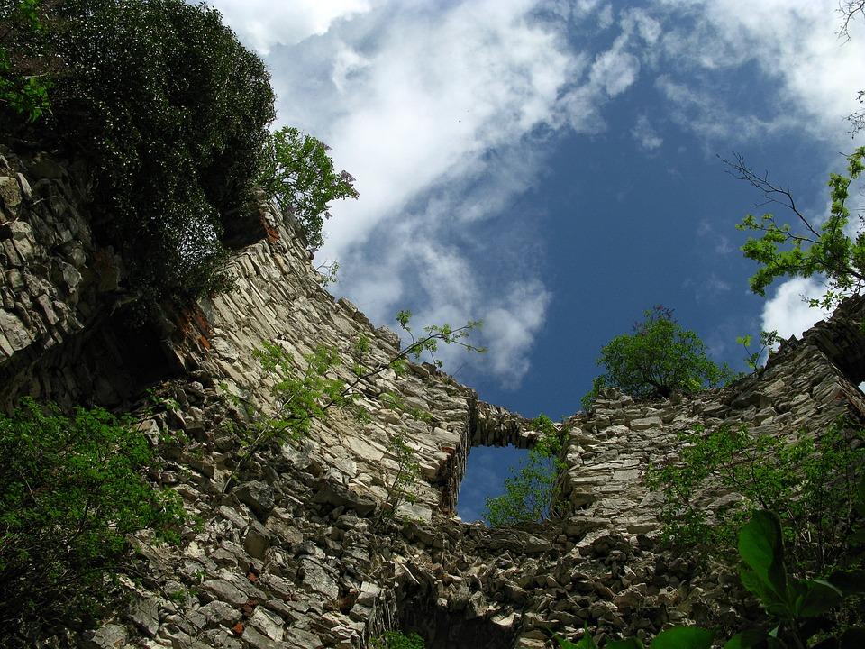 The Ruins Of The, Tenczyn, Sky, Castle, Malopolska
