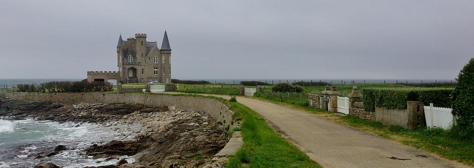 Quiberon, Village, Brittany, France, Europe, Castle