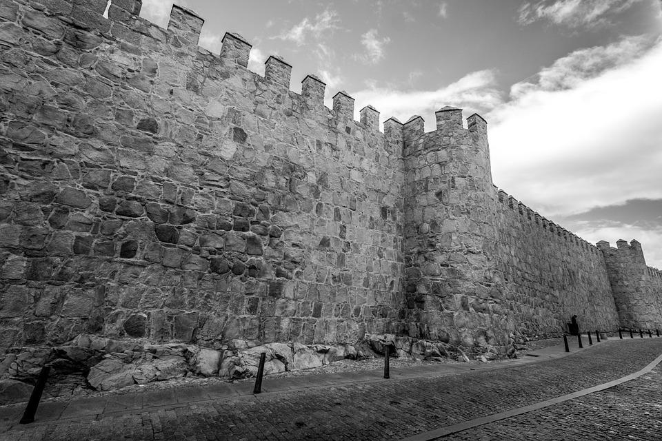 Wall, Stone, Castle, Old Building, Stone Wall, Avila