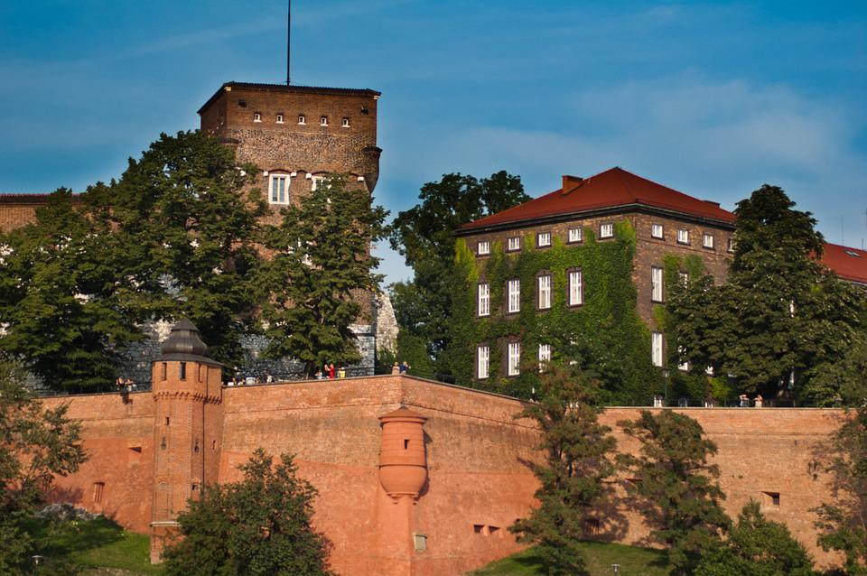 Kraków, Wawel, Castle, Monument, Lake Dusia, Buildings
