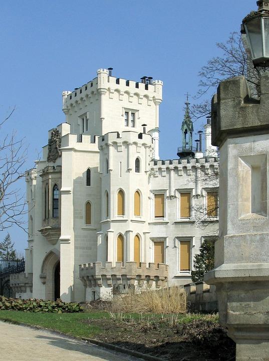 Castle, Historically, White, Czech Republic