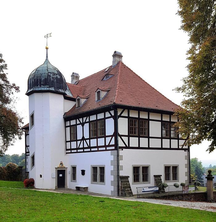 Truss, Castle, Yard Lößnitz, Saxony