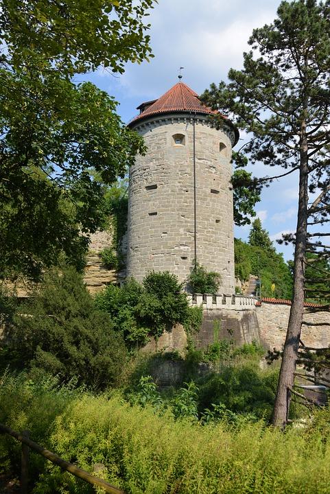 überlingen, Lake Constance, Tower, Castle, City Garden