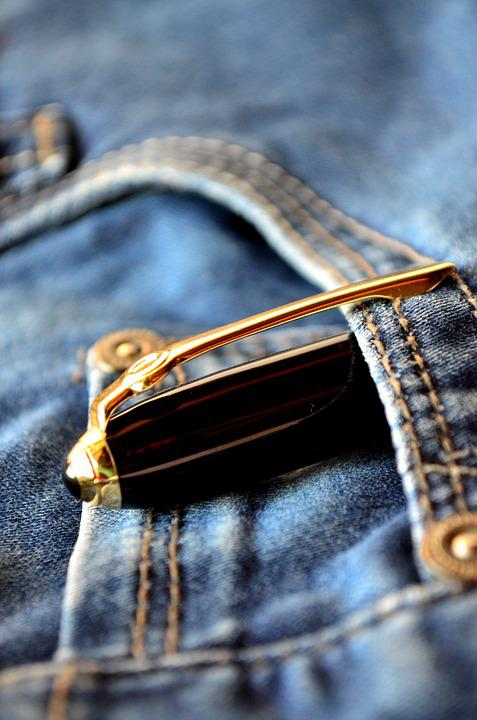 Pen, Jeans, Blue, Pocket, Fashion, Clothing, Casual