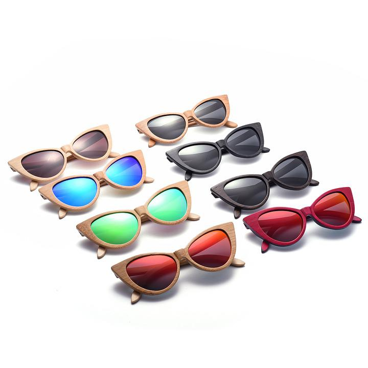 Cat Eye Sunglasses, Wood Sunglasses, Polarized Lenses
