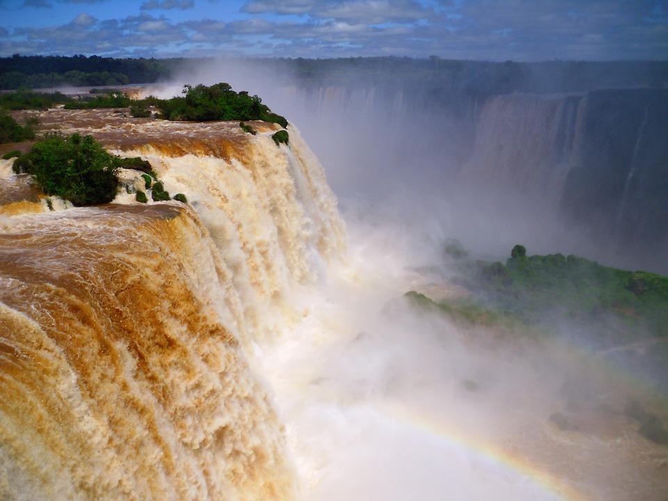 Waterfall, Brazil, Iguazu, Cataratas De Iguazu