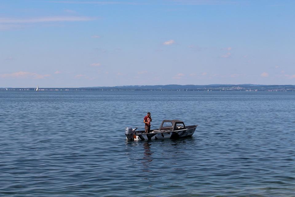 Fisherman, Fishing Boat, Angel, Catch Fish, Boat, Lake