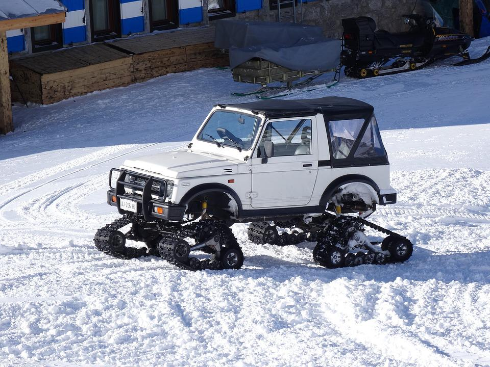 Adapted Vehicle Snow, Caterpillars, Cold, Ski Resort