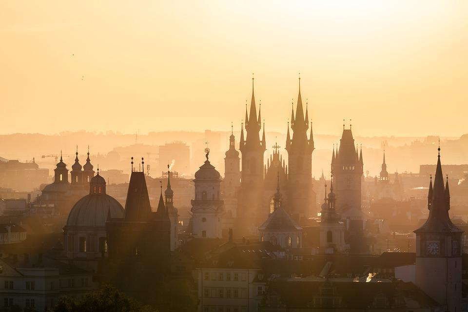 Prague, Architecture, Cathedral, Fog, Cityscape