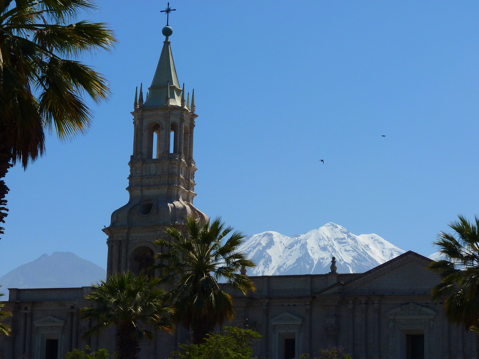 Arequipa, Peru, Church, Plaza D ' Armas, Cathedral