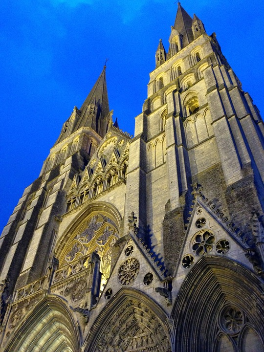 Bayeux, France, Notre Dame, Cathedral, Architecture