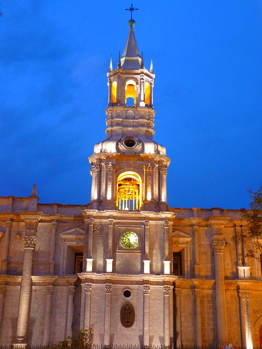 Arequipa, Cathedral, Peru, Building, Architecture