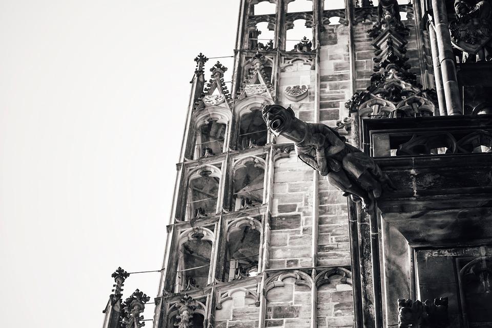 Gargoyle, Cathedral, Catholic, Character, Chimera