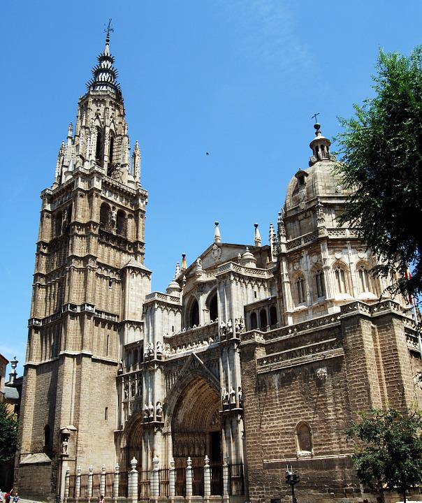 Cathedral, Toledo, Church, Spain, Construction
