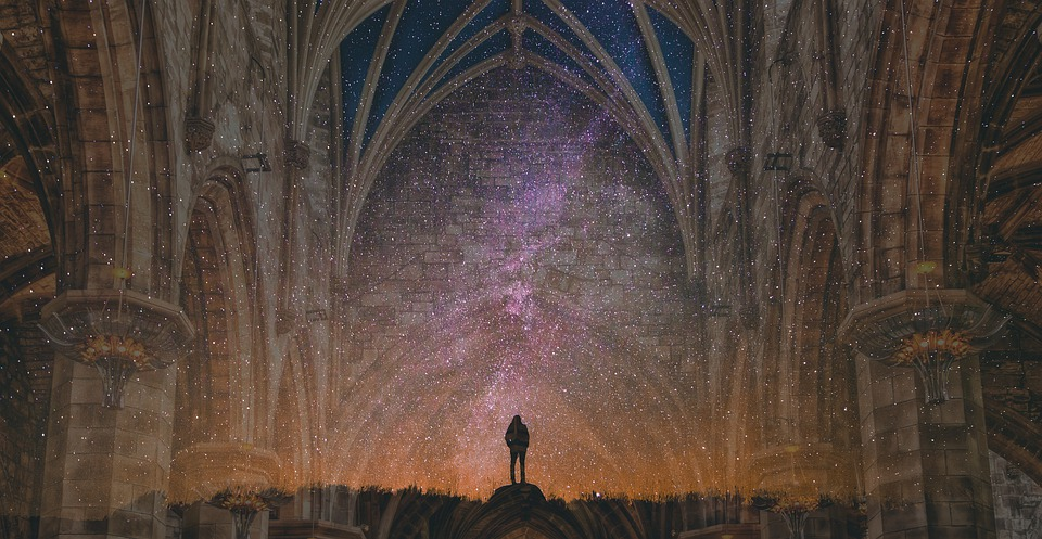 Night, Cathedral, Cosmos, Divine Order