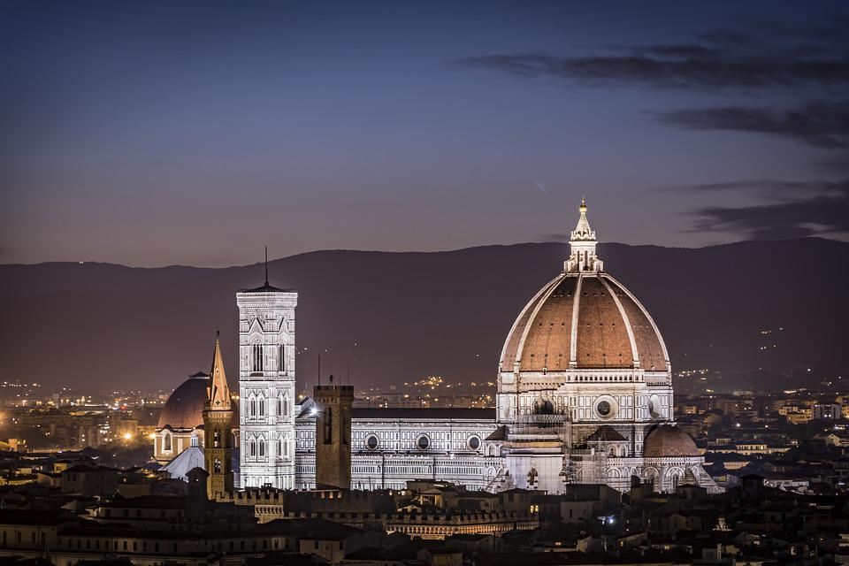 Florence Cathedral, Cathedral, Night, Illuminated