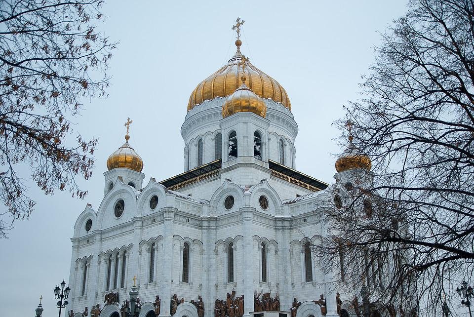 Moscow, Cathedral, Orthodox, Bulbs, Dome