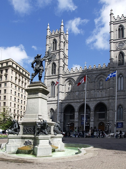 Montreal, Notre Dam, Church, Cathedral, Canada