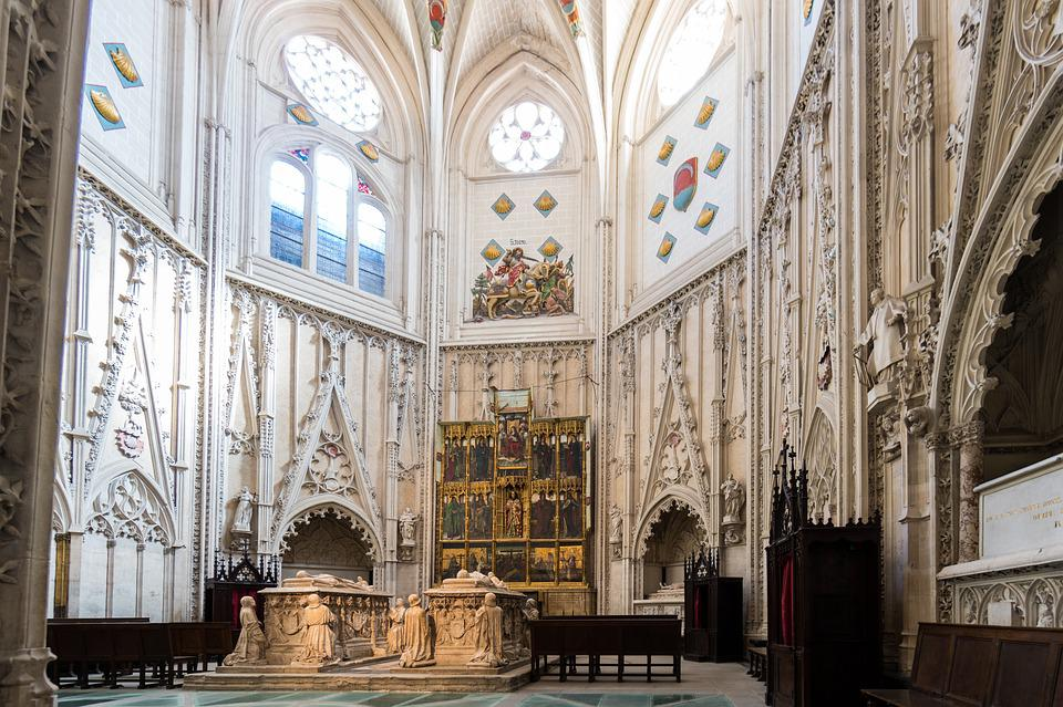 Church, Toledo, Spain, Travel, Cathedral, Religious