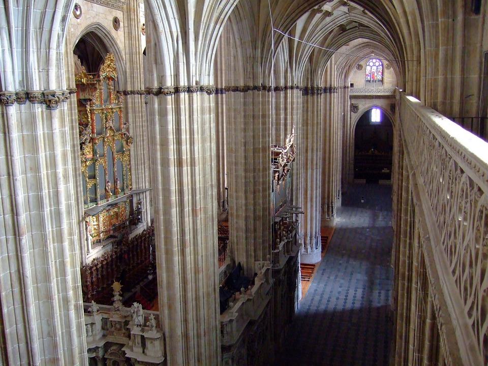 Salamanca, Spain, Cathedral, Inside, Church