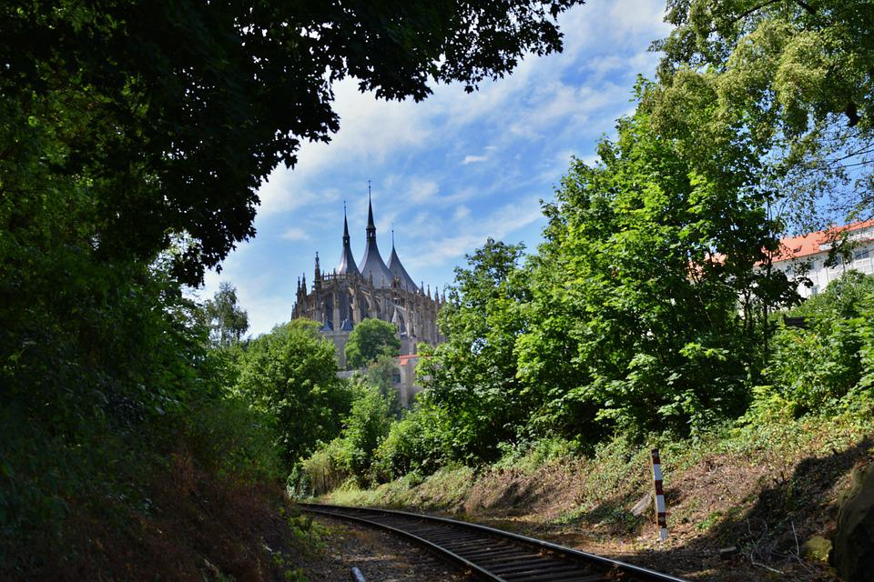 Nature, View, Track, Cathedral, Czech Republic, Summer
