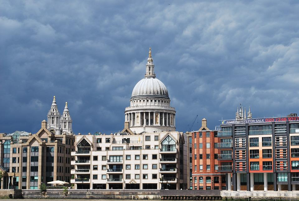 St Paul's Cathedral, Thames, London, Cathedral