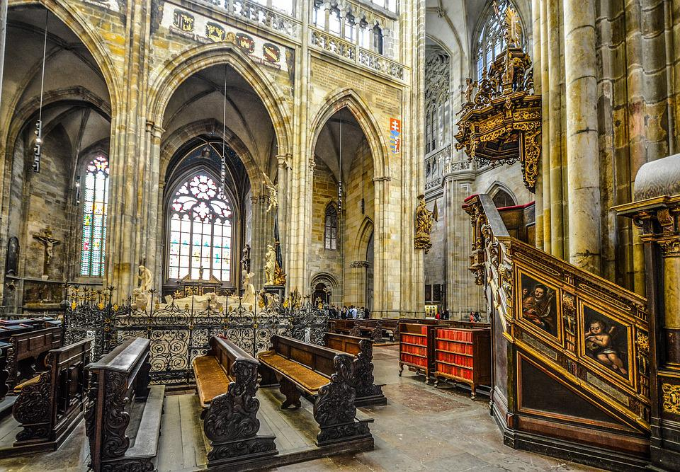 Religion, Church, Cathedral, Vitus, Prague, Interior