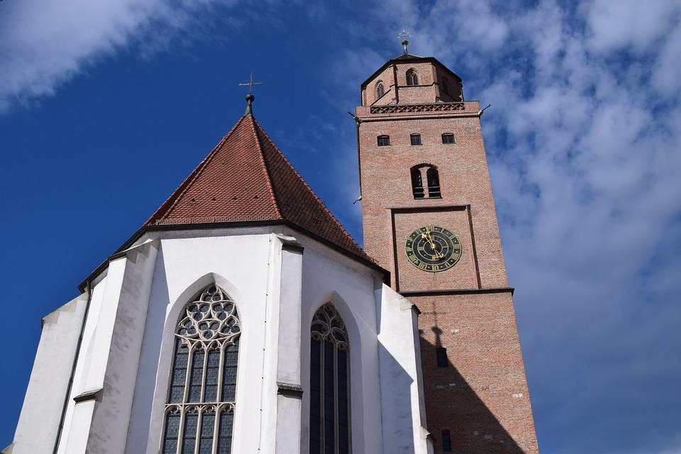 Donauwörth, Church, Catholic, Steeple, Building