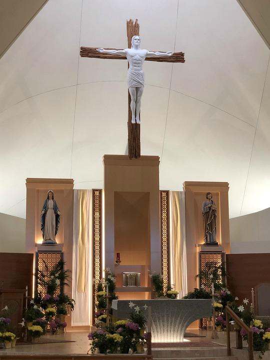 Catholic Church, Cross, Altar, Jesus, Christian