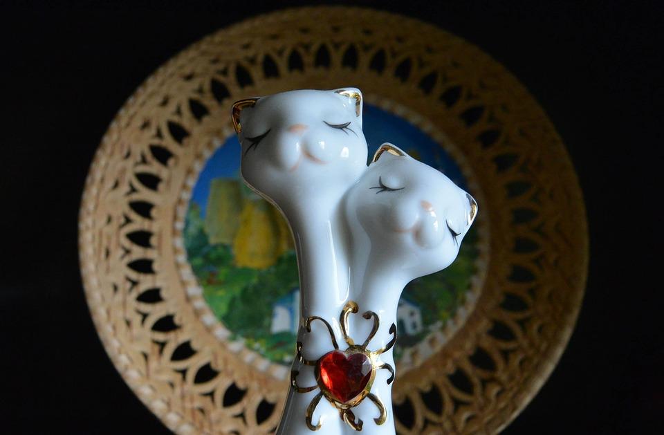 Sculpture, Cats, Figurine, Portrait, Closeup