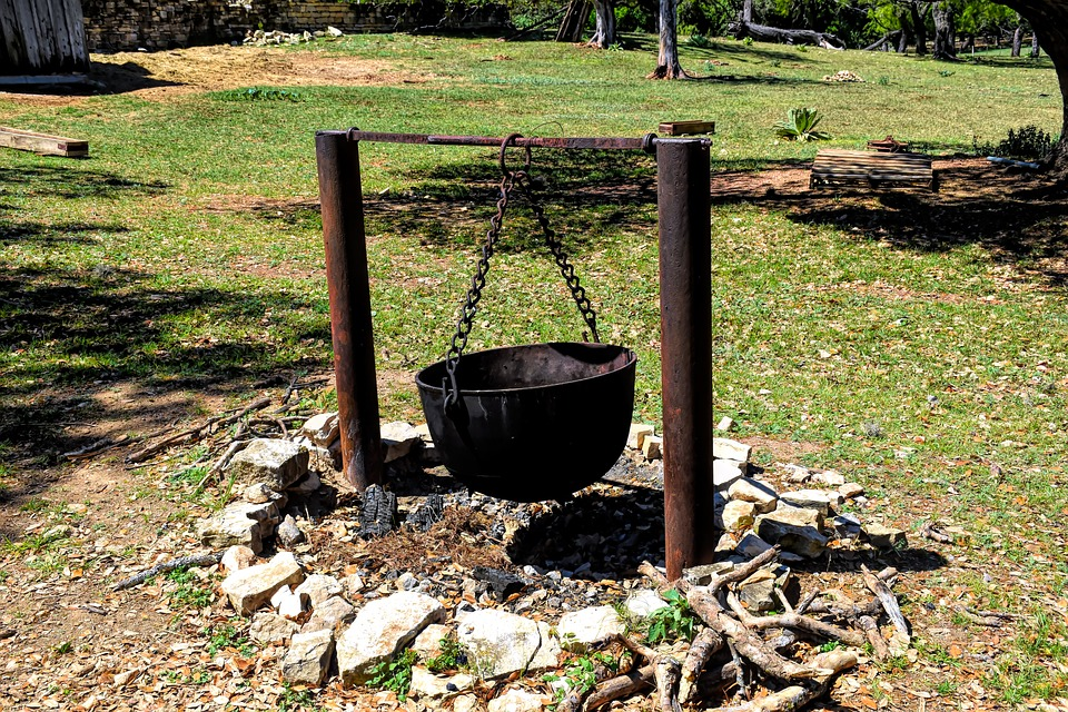 Cauldron, Metal, Campfire, Kettle, Pot, Old, Cooking