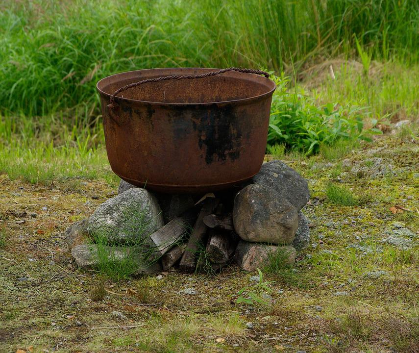 Cauldron, Cooking, Rust