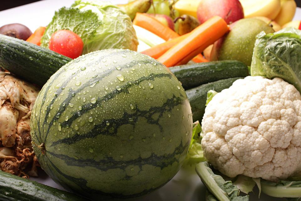 Vegetables, Melon, Cauliflower, Still Life, Background