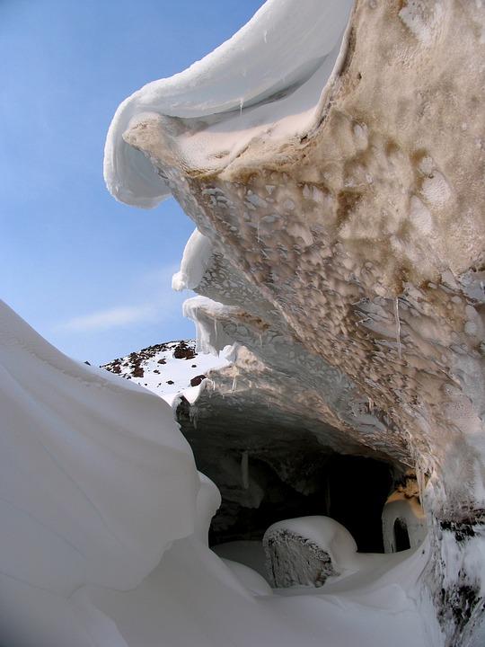 Cave, Glacier, Snowdrift, Sneznik