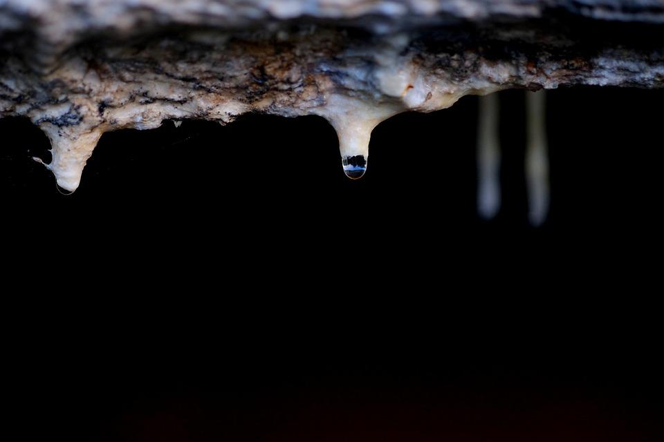 Drop Of Water, Water, Drip, Liquid, Stalactite, Cave