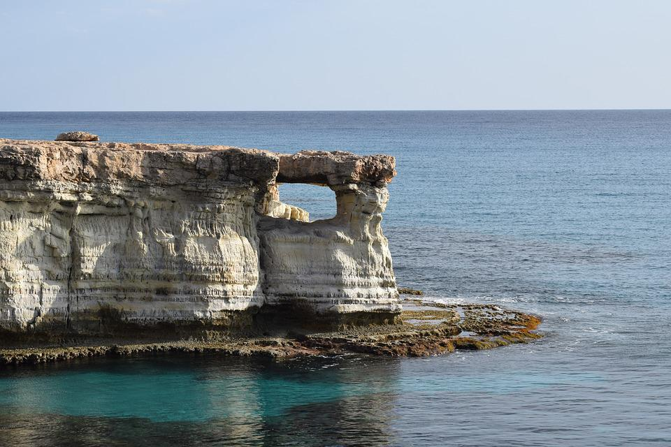 Cyprus, Cavo Greko, Sea Caves, Window, Sea, Cape, Coast
