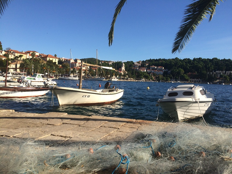 Cavtat, Croatia, Fishing Boat, Fisherman's Net, Sky