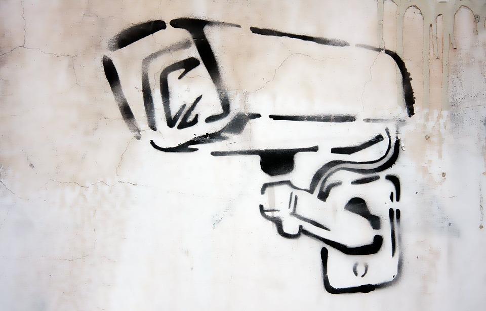 Camera, Graffiti, Security, Cctv, Surveillance
