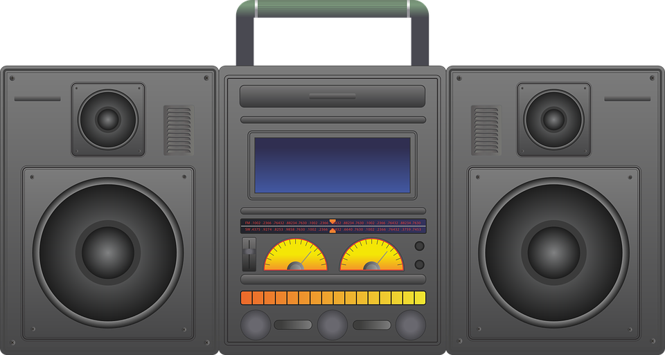 Boombox, Ghetto Blaster, Audio Player, Cd Player
