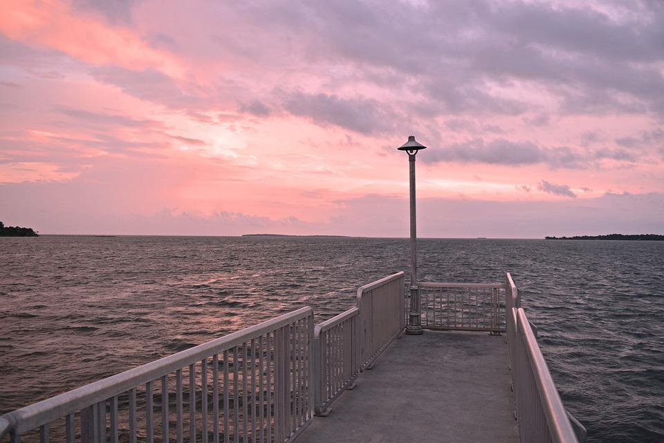 Water, Sea, Sky, Outdoors, Pier, Cedar Key, Ocean, Dock