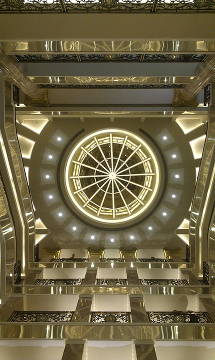 Ceiling, Commercial Center, Building, Architecture