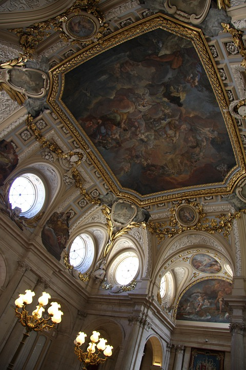 Ceilings, Murals, Ceiling, Palace, Construction