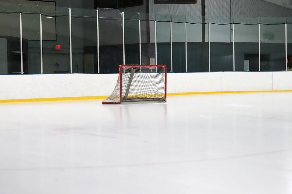Indoors, Empty, Hockey, Rink, Arena, Ceiling, Modern