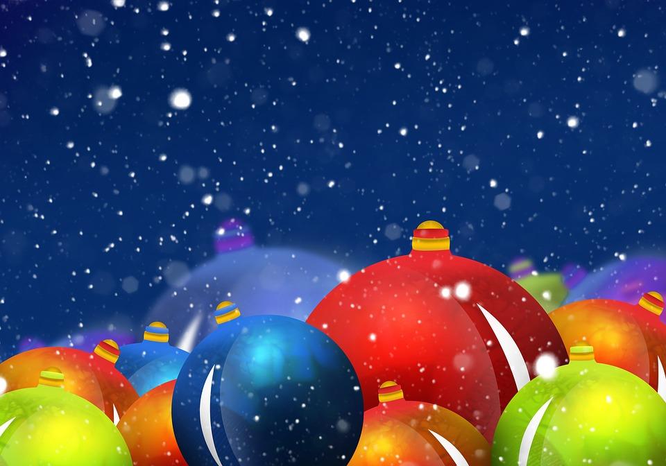 Snow, Balls, Christmas, Decoration, Celebration