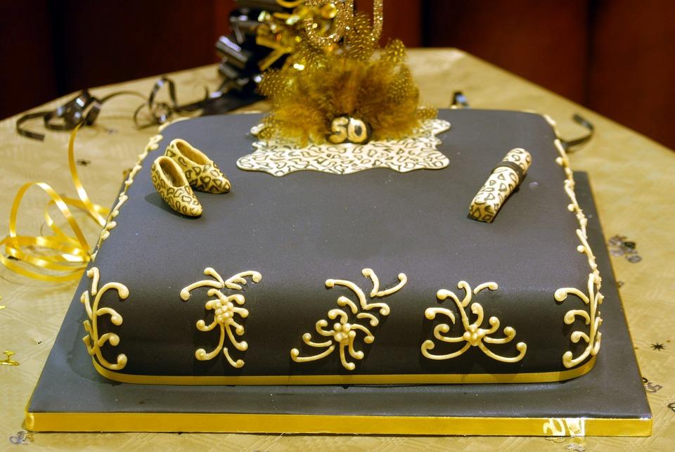 Cake, Birthday, Celebration, Celebrate, 5oth, Glasses