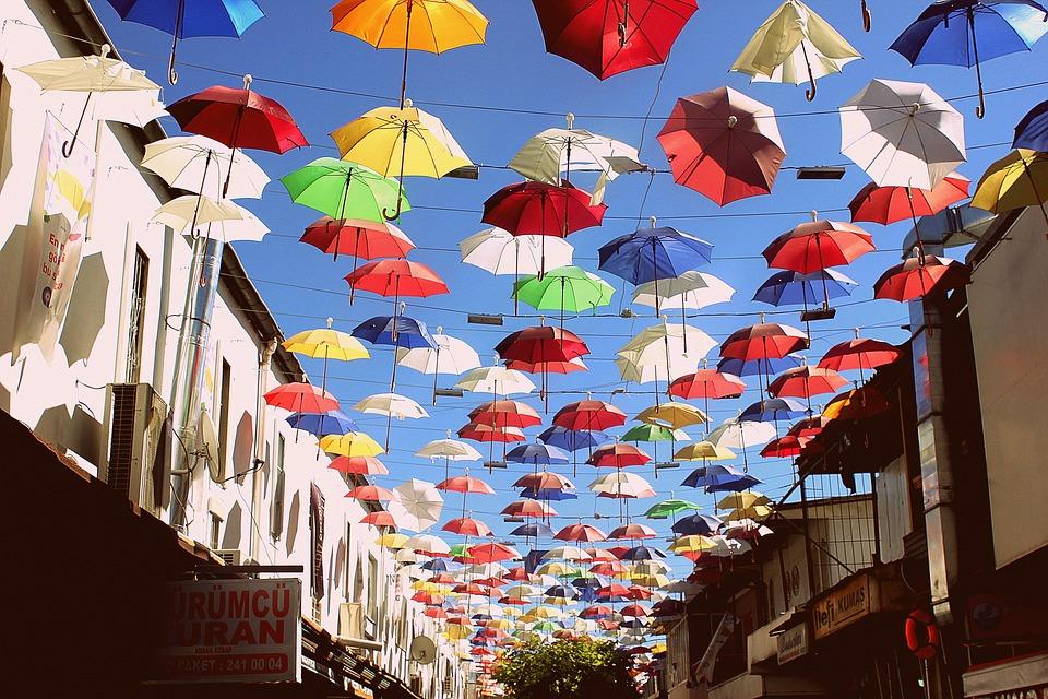 Umbrella, Celebration, Festival, Turkish, Colorful, Sky