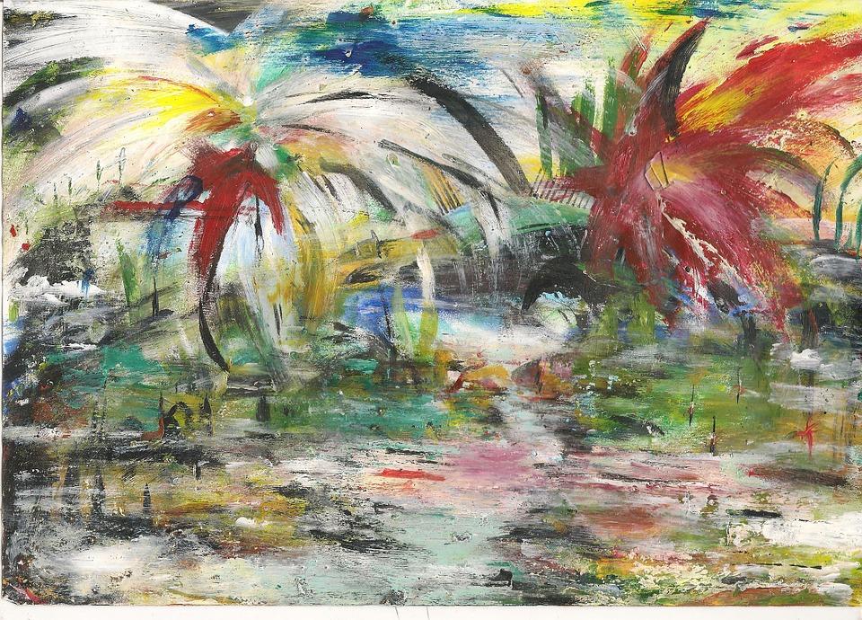 Painting, Firework, Celebration, Village, Festival