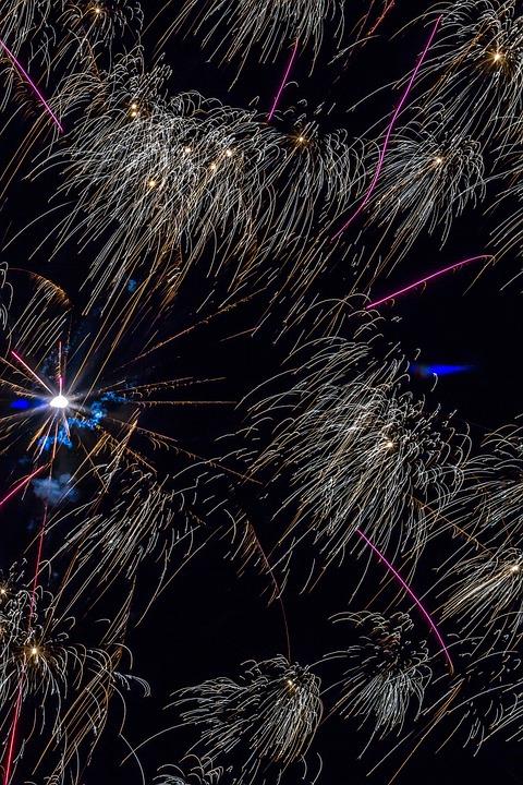 Fireworks, Starburst, Celebration, 4th July, Decoration